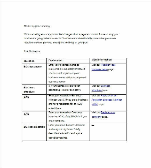 Basic Business Plan Template Free New 19 Simple Marketing Plan Templates Doc Pdf