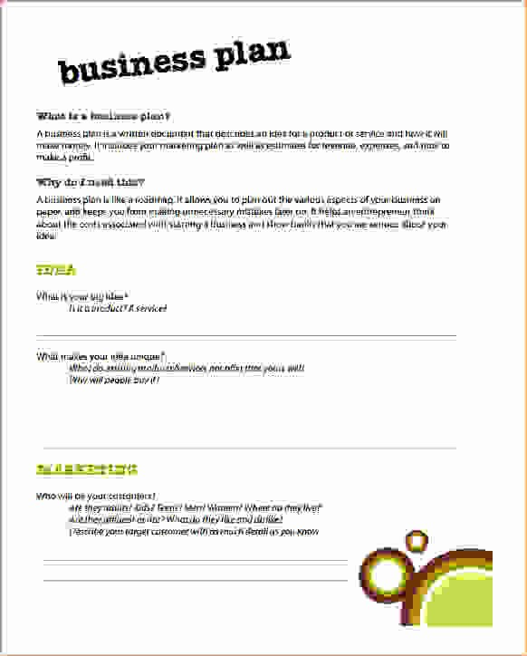Basic Business Plans Templates Free Elegant 6 Simple Business Plan Template