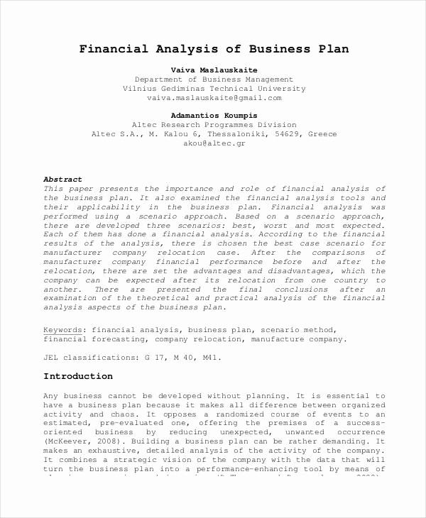 Basic Business Plans Templates Free Elegant Basic Business Plan Templates 12 Free Pdf format