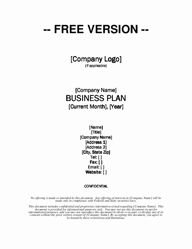 Basic Business Plans Templates Free Elegant Growthink Business Plan Template Free Download