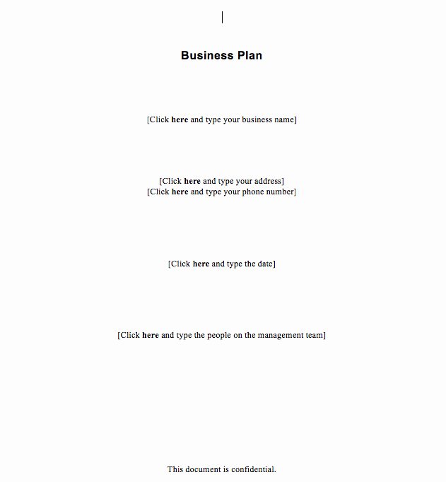 Basic Business Plans Templates Free Fresh Free Simple Business Plan Template
