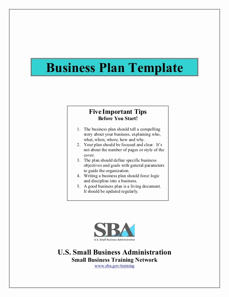 Basic Business Plans Templates Free Lovely Small Business Plan Template