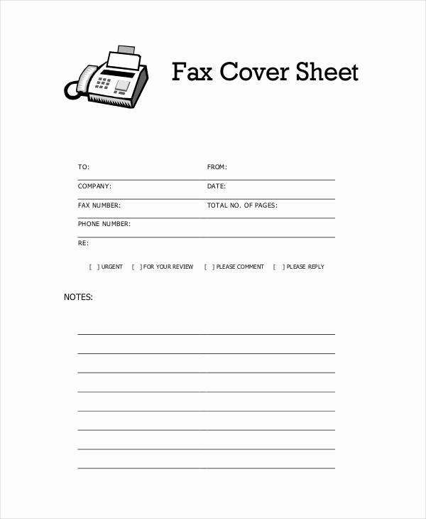 Basic Cover Sheet for Fax Awesome 35 Free Sheet Examples