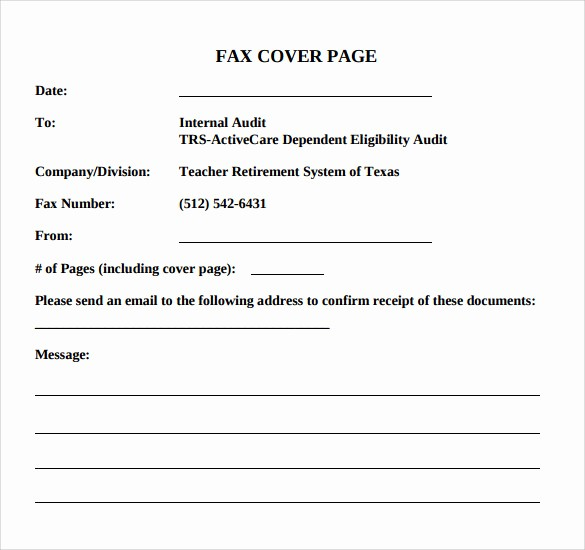 Basic Cover Sheet for Fax Beautiful 14 Sample Basic Fax Cover Sheets