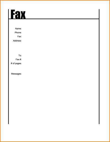 Basic Cover Sheet for Fax Best Of 6 Simple Fax Cover Sheet