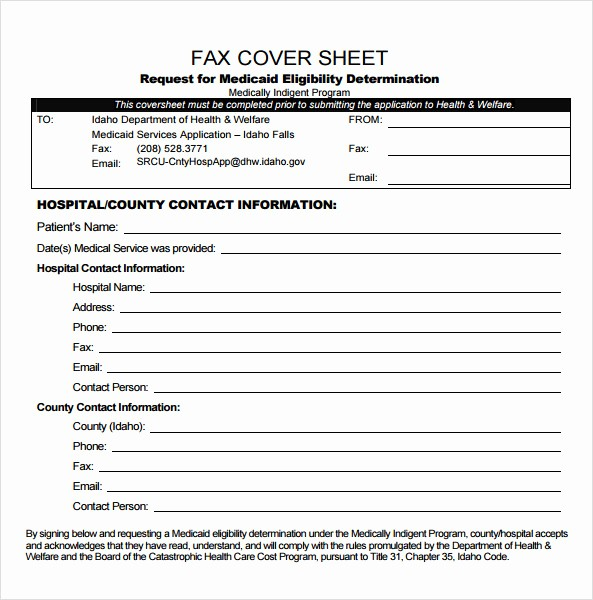 Basic Fax Cover Sheet Template Best Of Sample Basic Fax Cover Sheet 8 Free Documents Download