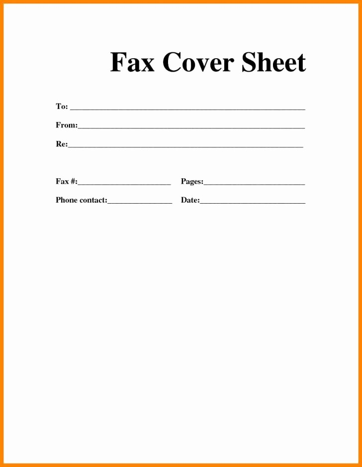 Basic Fax Cover Sheet Template Elegant Fax Cute Fax Cover Sheet