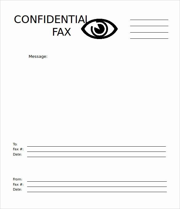 Basic Fax Cover Sheet Template Fresh 7 Basic Fax Cover Sheet Templates Free Sample Example