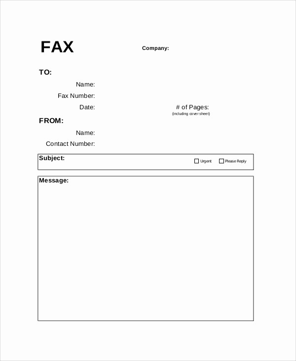 Basic Fax Cover Sheet Template Fresh 8 Fax Cover Letter Samples Examples Templates