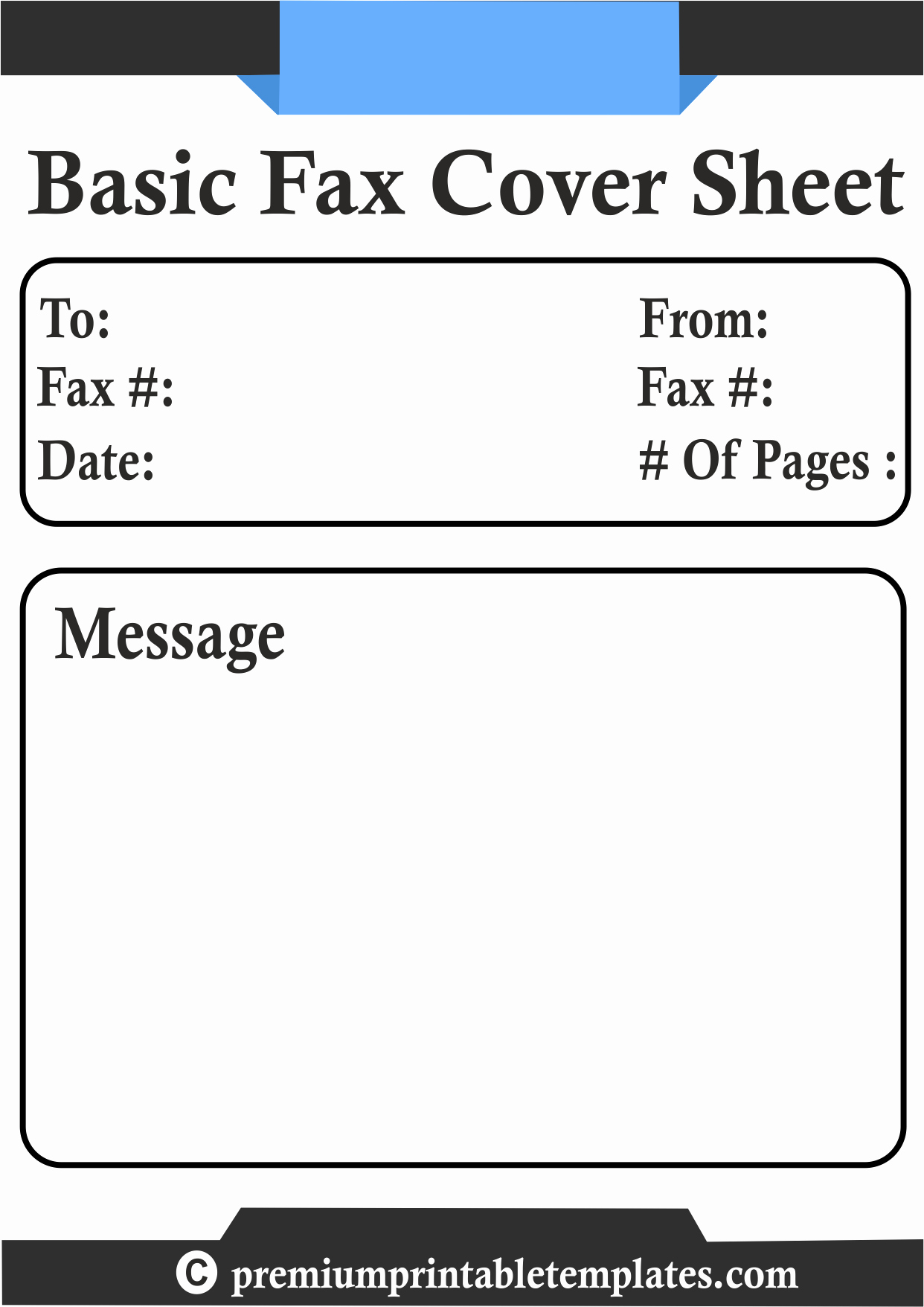 Basic Fax Cover Sheet Template Fresh Basic Fax Cover Sheet Template – Premium Printable Templates