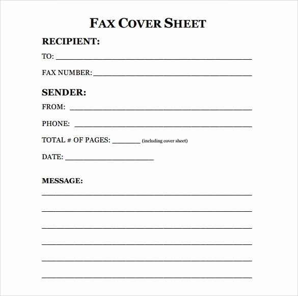 Basic Fax Cover Sheet Template Inspirational Fax Cover Sheet Template