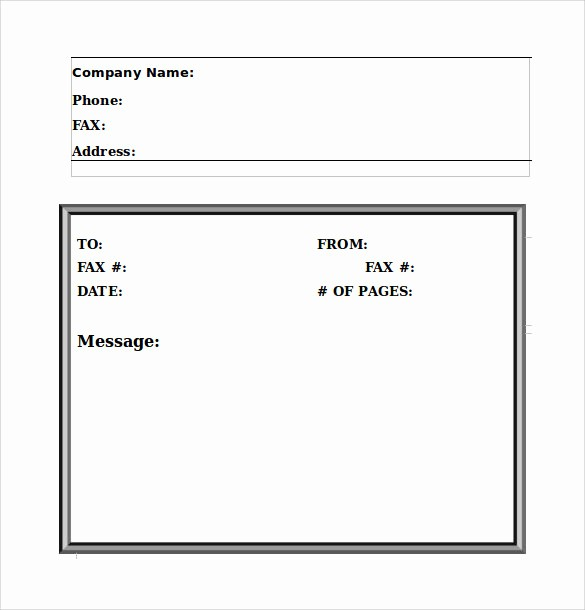 Basic Fax Cover Sheet Template Unique 11 Sample Fax Cover Sheet – Pdf Doc