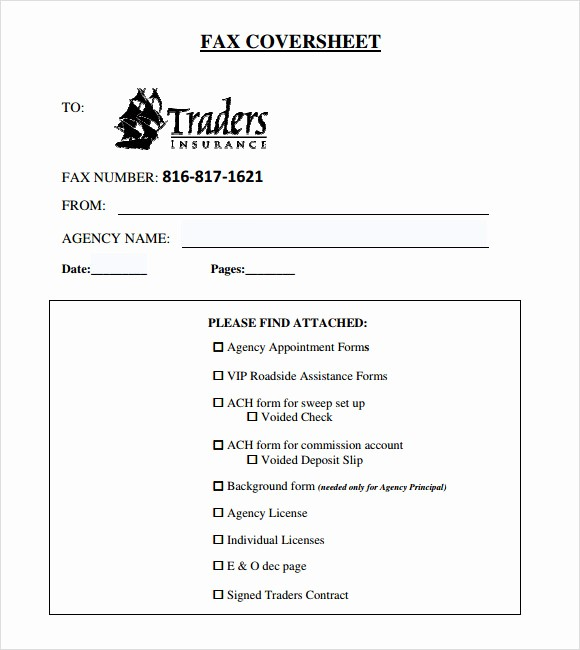 Basic Fax Cover Sheet Template Unique 8 Basic Fax Cover Sheet Samples