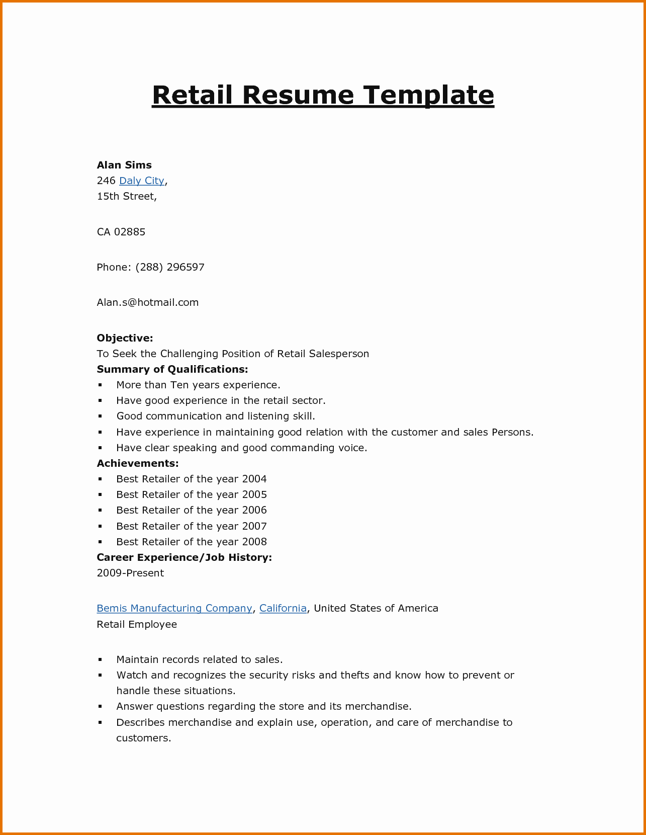 Basic format Of A Resume Elegant Basic Cv Templates Retailreference Letters Words