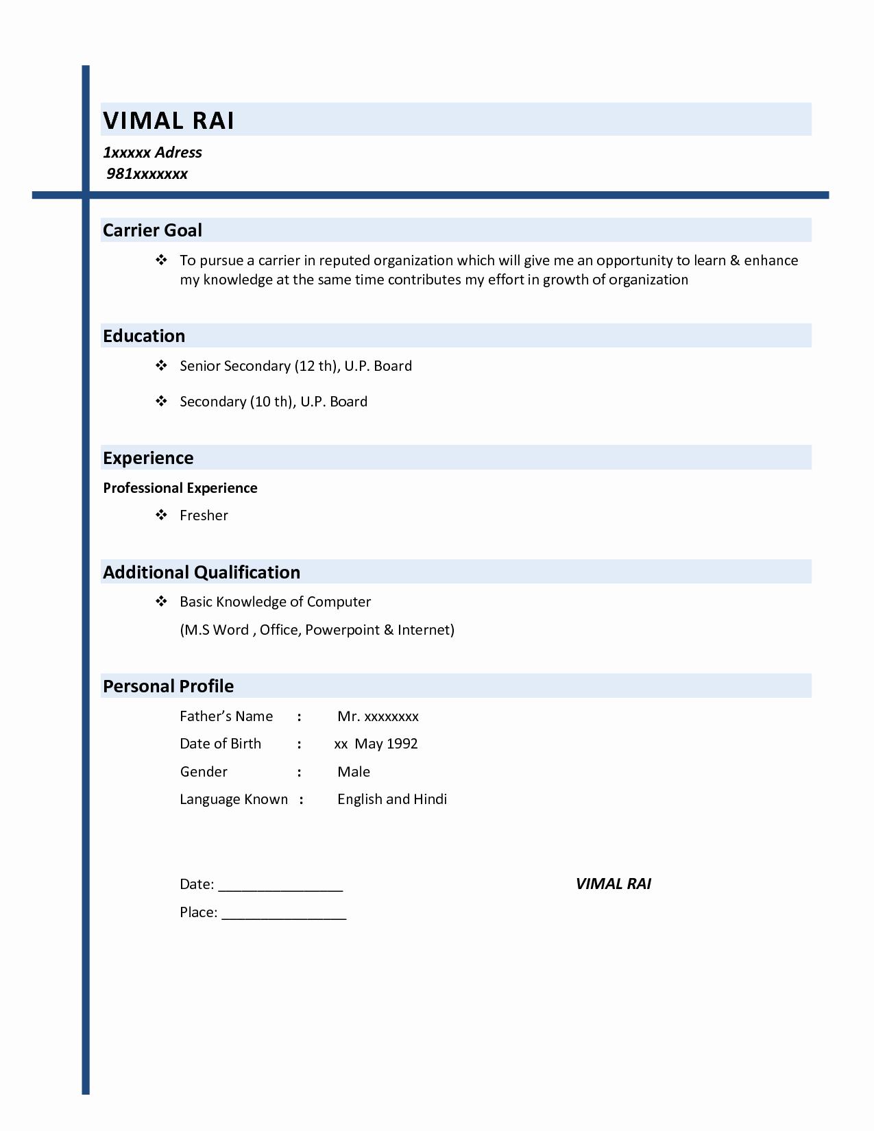 Basic format Of A Resume Inspirational Resume Examples Basic Resume Examples Basic Resume