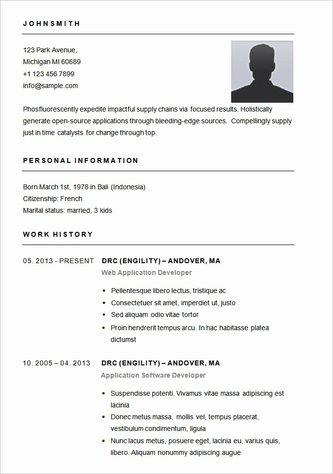 Basic format Of A Resume Luxury 70 Basic Resume Templates Pdf Doc Psd