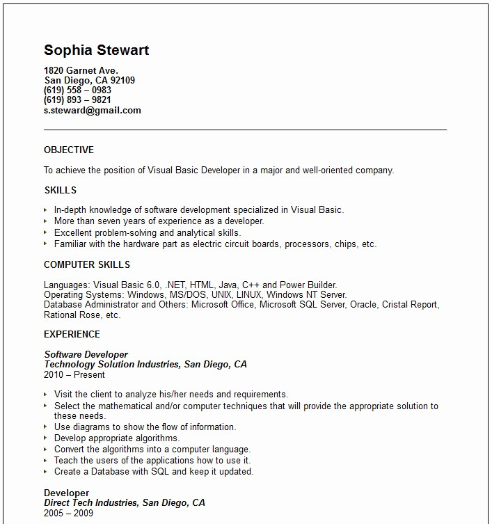 Basic format Of A Resume Unique Basic Resume Examples Cv