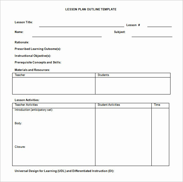 Basic Lesson Plan Template Word Best Of Basic Lesson Plan Template Templates Data