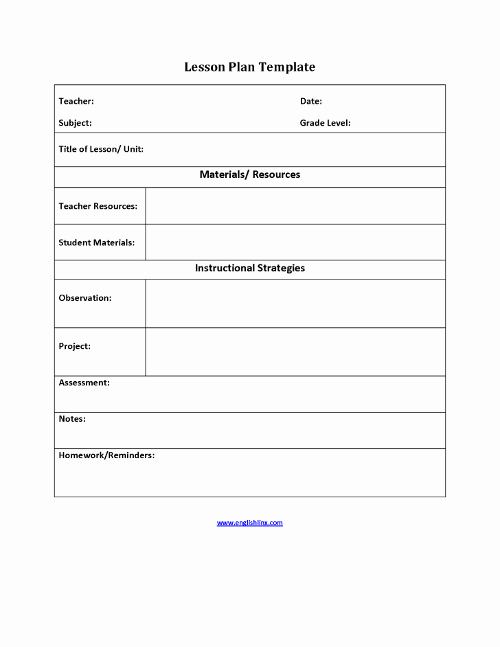 Basic Lesson Plan Template Word Elegant Simple Lesson Plan Template Business Letters Free Weekly