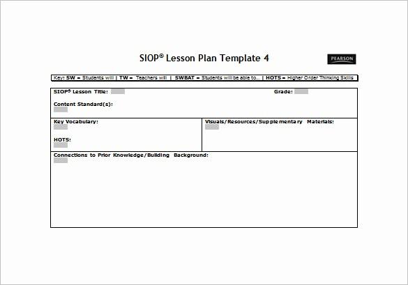 Basic Lesson Plan Template Word Elegant Simple Lesson Plan Template Templates Station