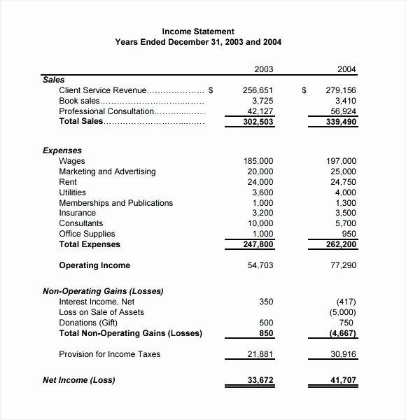 Basic Profit and Loss Statement Inspirational Basic In E Statement Example Template Personal Free Post