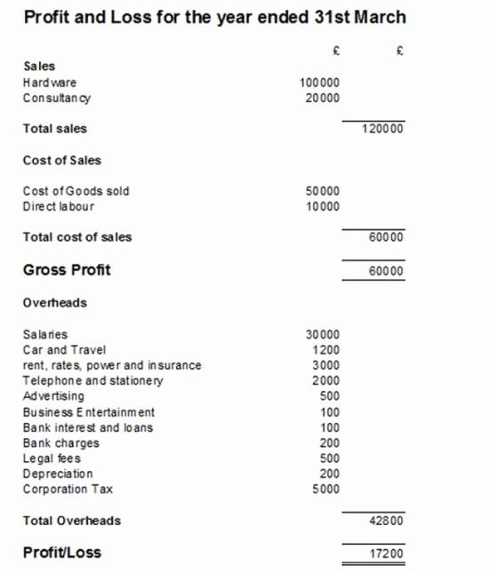 Basic Profit and Loss Statement Unique Simple P&l Statement – Fi Card Templates