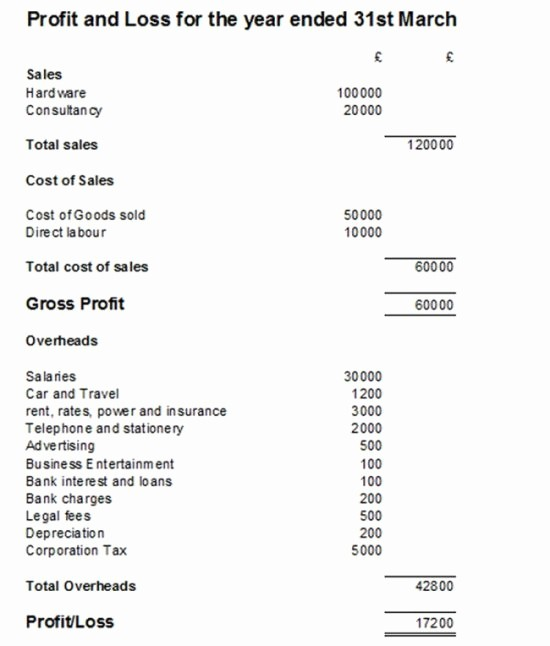 Basic Profit and Loss Template Elegant Basic Profit and Loss Template Uk Templates Resume
