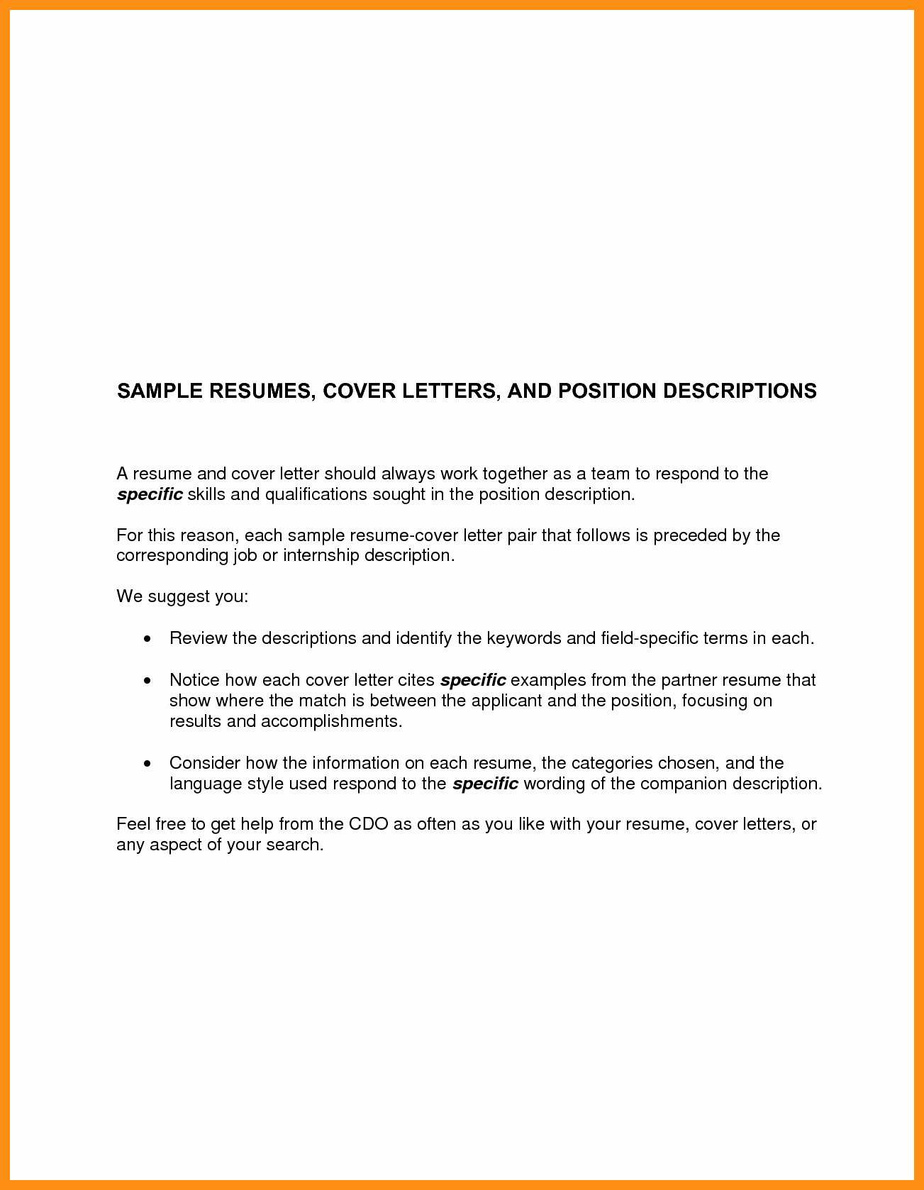 Basic Resume Cover Letter Examples Awesome Basic Cover Letter for Any Job