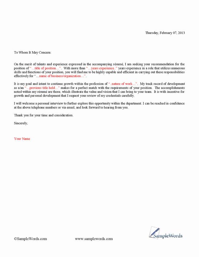 Basic Resume Cover Letter Examples Fresh Simple Cover Letter Template for Resume