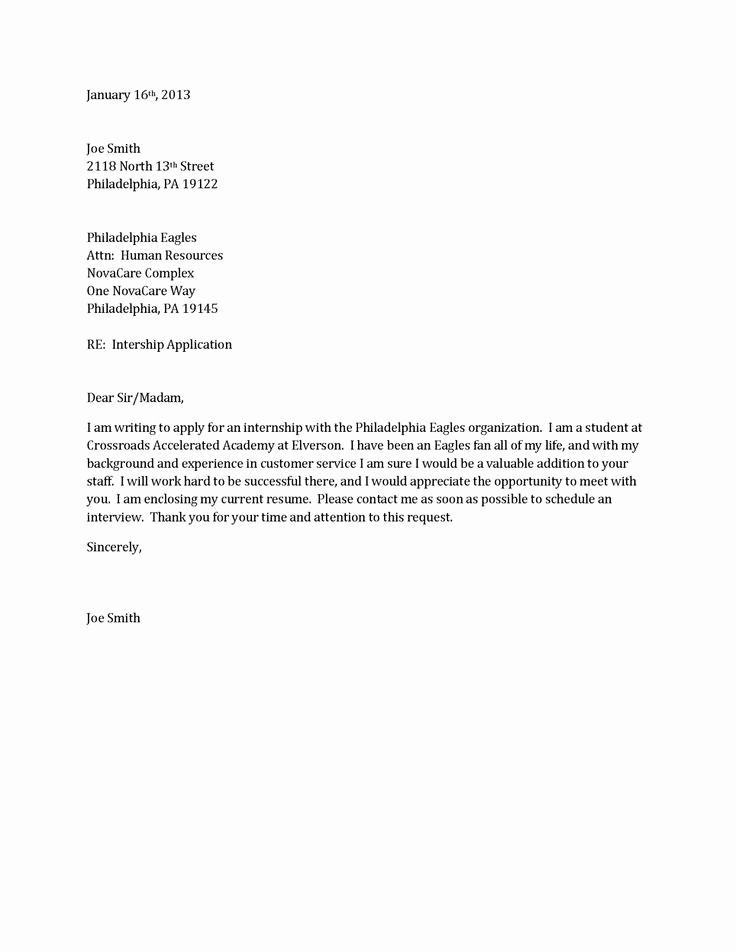 Basic Resume Cover Letter Examples Inspirational Basic Cover Letter for A Resume