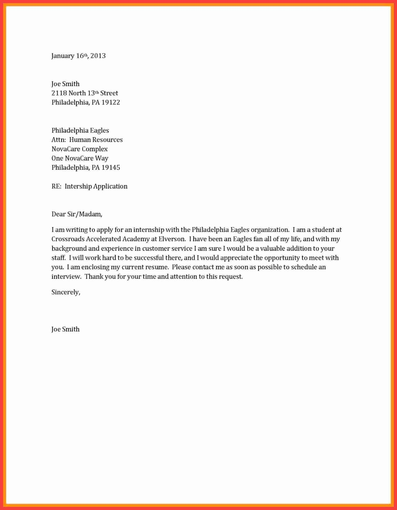 Basic Resume Cover Letter Template Inspirational Basic Cover Letter Outline