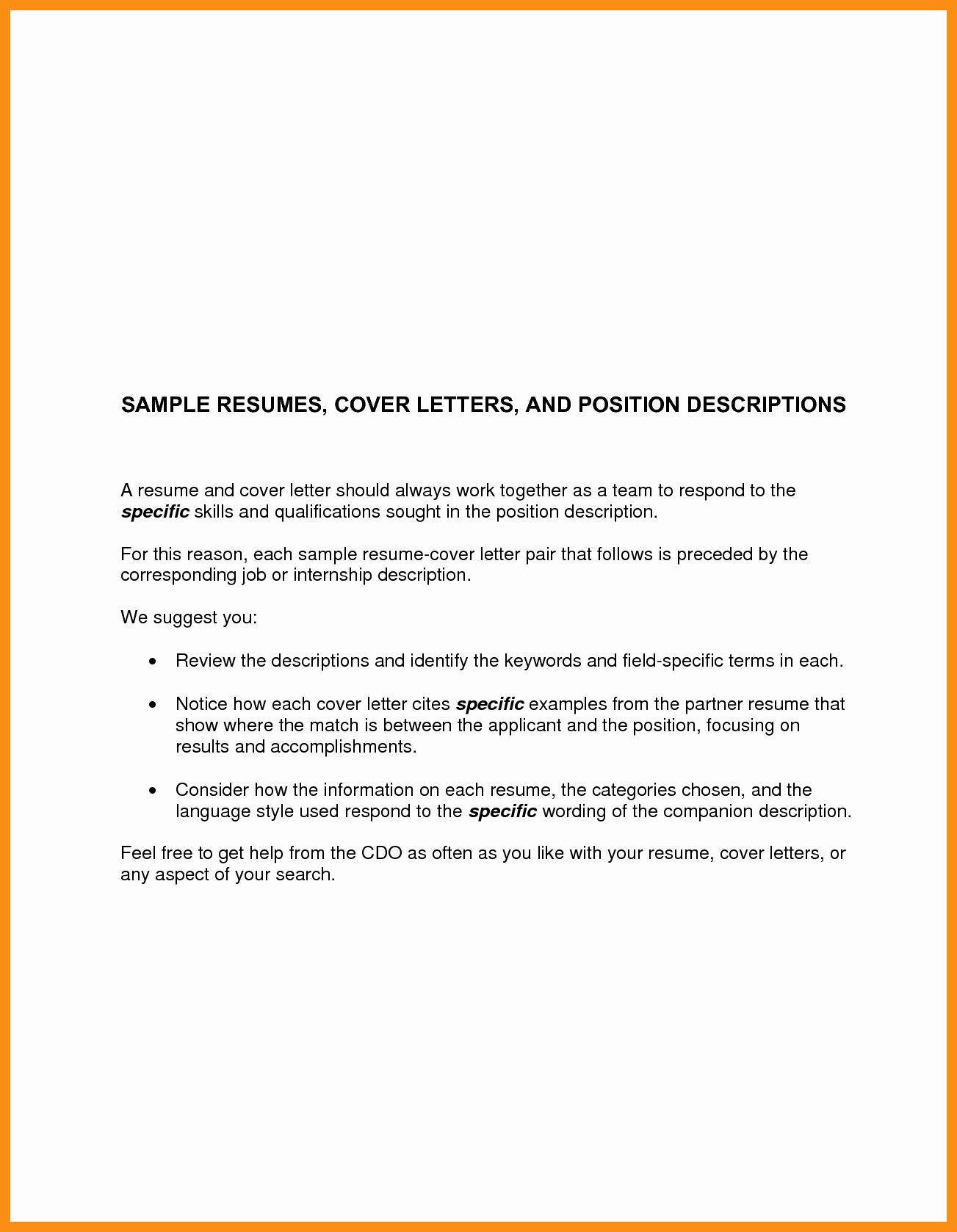 Basic Resume Cover Letter Template Unique Basic Cover Letter for Any Job