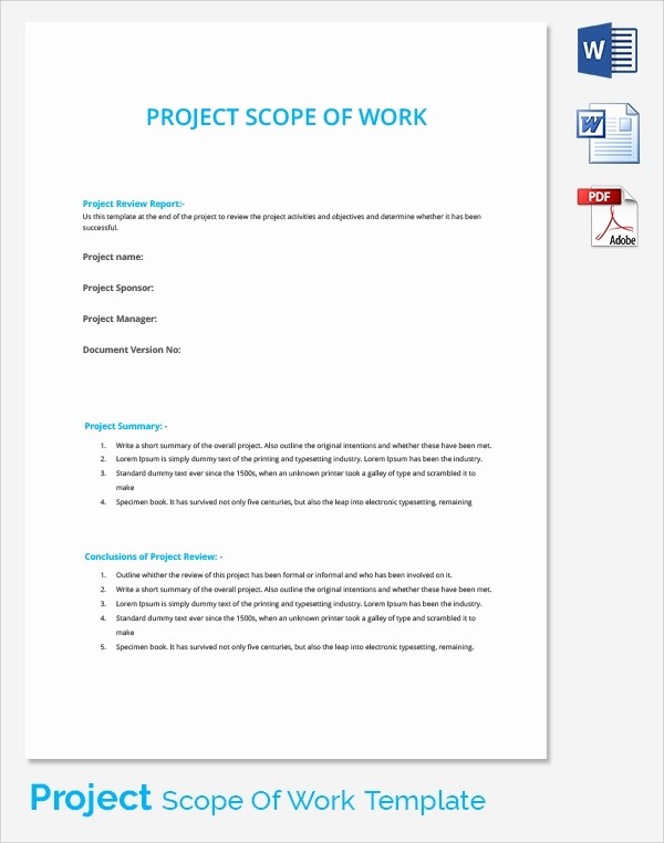 Basic Scope Of Work Template Awesome Sample Scopes Of Work Colombristopherbathum