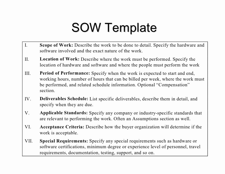 Basic Scope Of Work Template Beautiful Statement Of Work by Kkpeters'