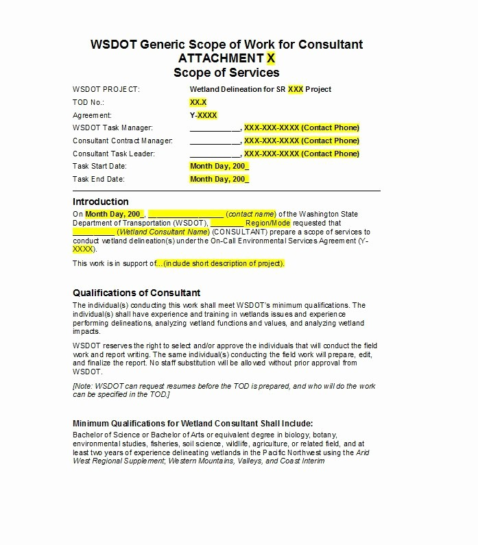 Basic Scope Of Work Template Best Of 30 Ready to Use Scope Of Work Templates & Examples