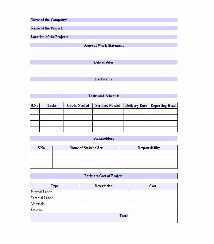 Basic Scope Of Work Template Elegant 30 Ready to Use Scope Of Work Templates & Examples