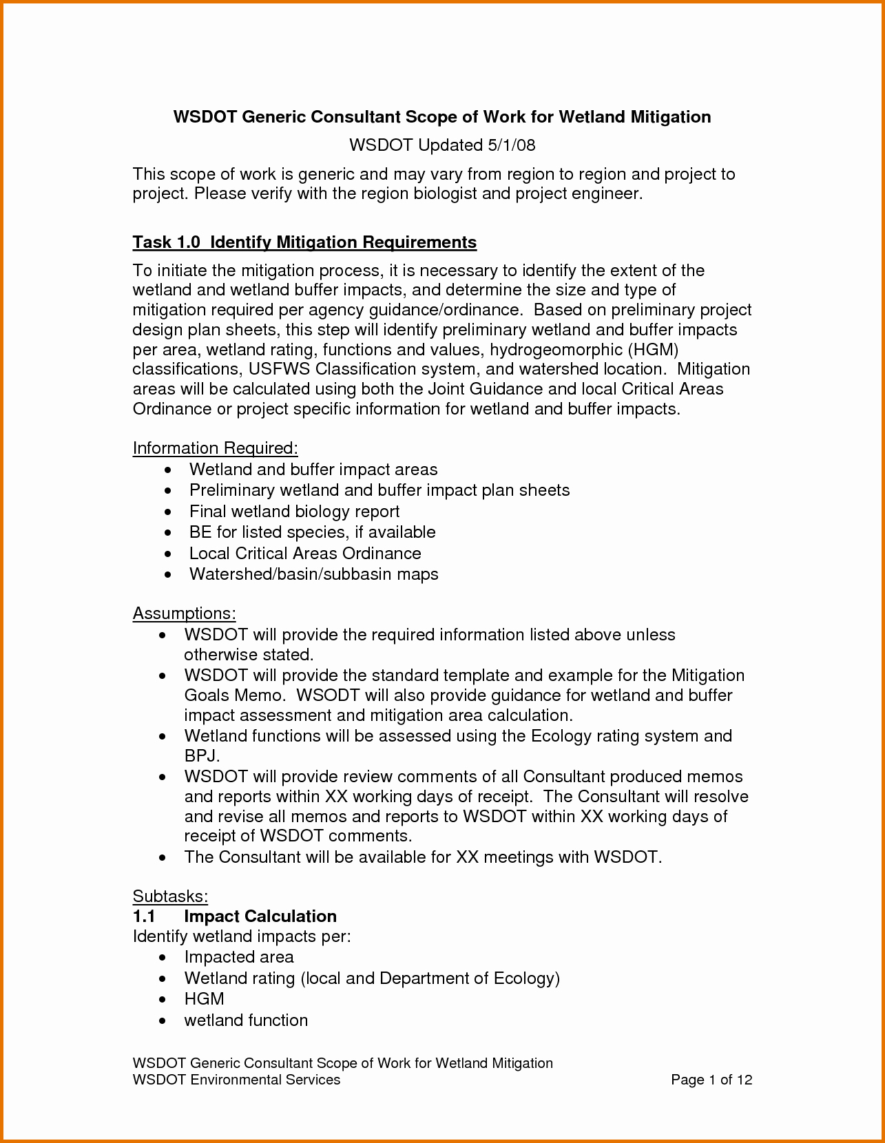 Basic Scope Of Work Template Lovely 8 Scope Of Work Templatereference Letters Words