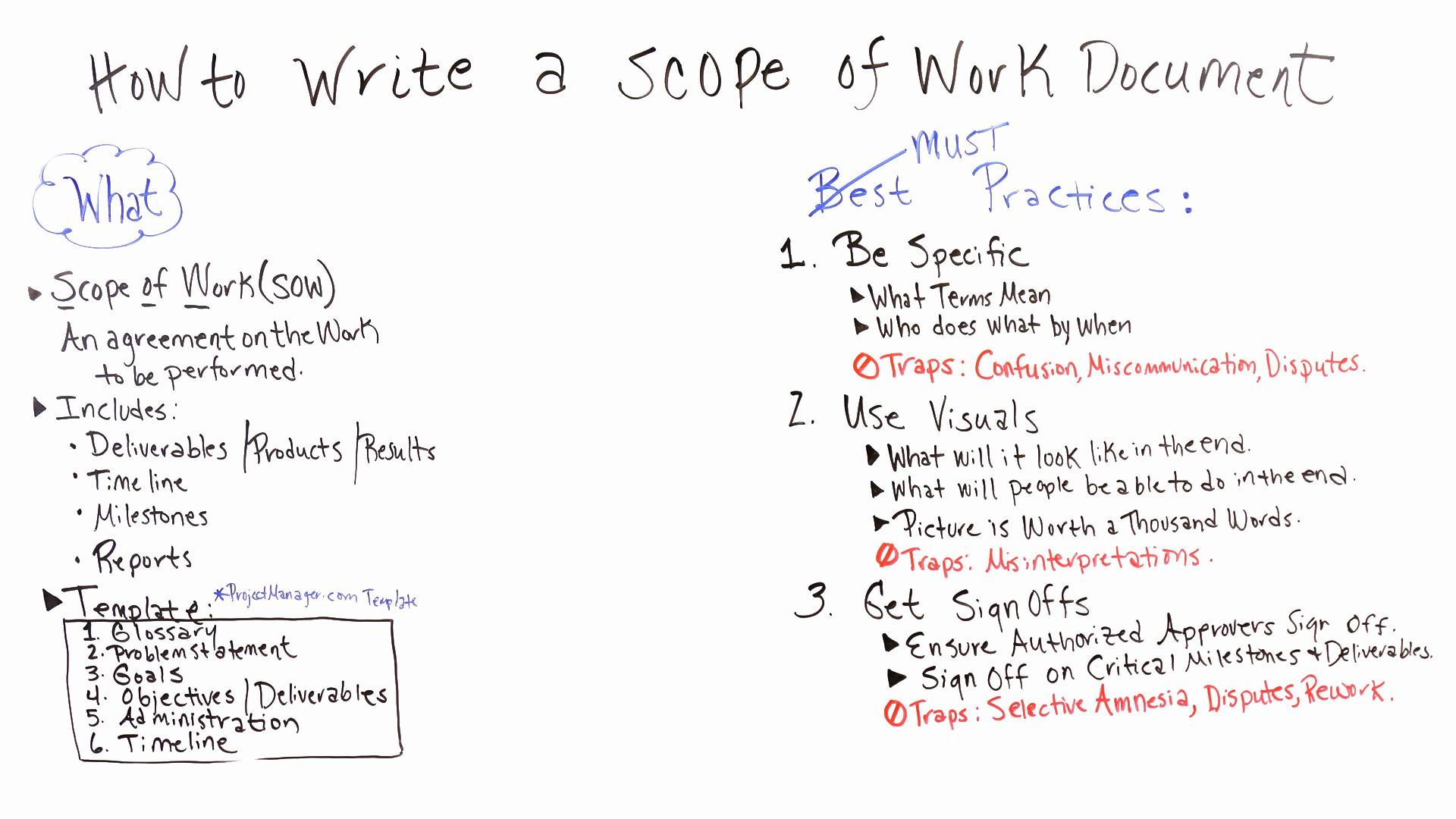 Basic Scope Of Work Template Lovely Basic Scope Work Templates