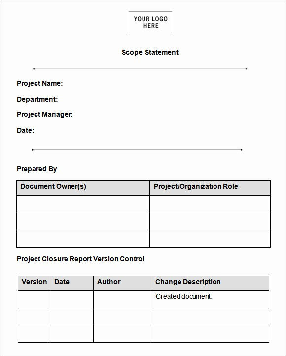 Basic Scope Of Work Template Lovely Scope Of Work Template 36 Free Word Pdf Documents