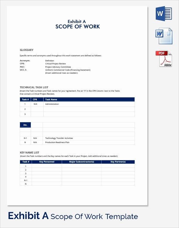 Basic Scope Of Work Template Unique Scope Of Work 22 Dowload Free Documents In Pdf Word Excel