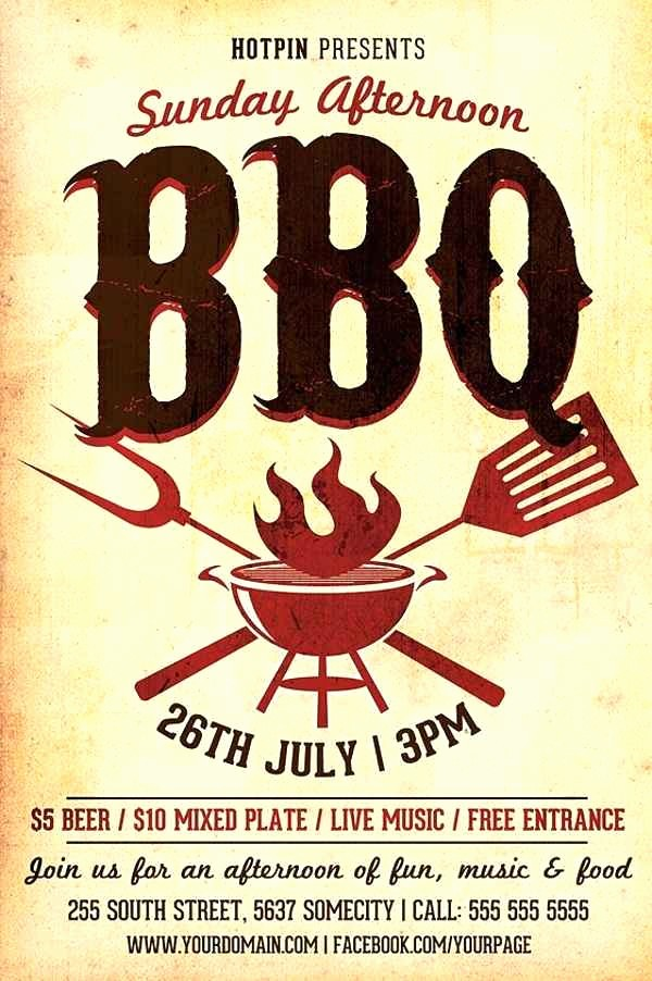 Bbq Fundraiser Flyer Templates Free Awesome Bbq Fundraiser Flyer Template Free Flyer Template Bbq