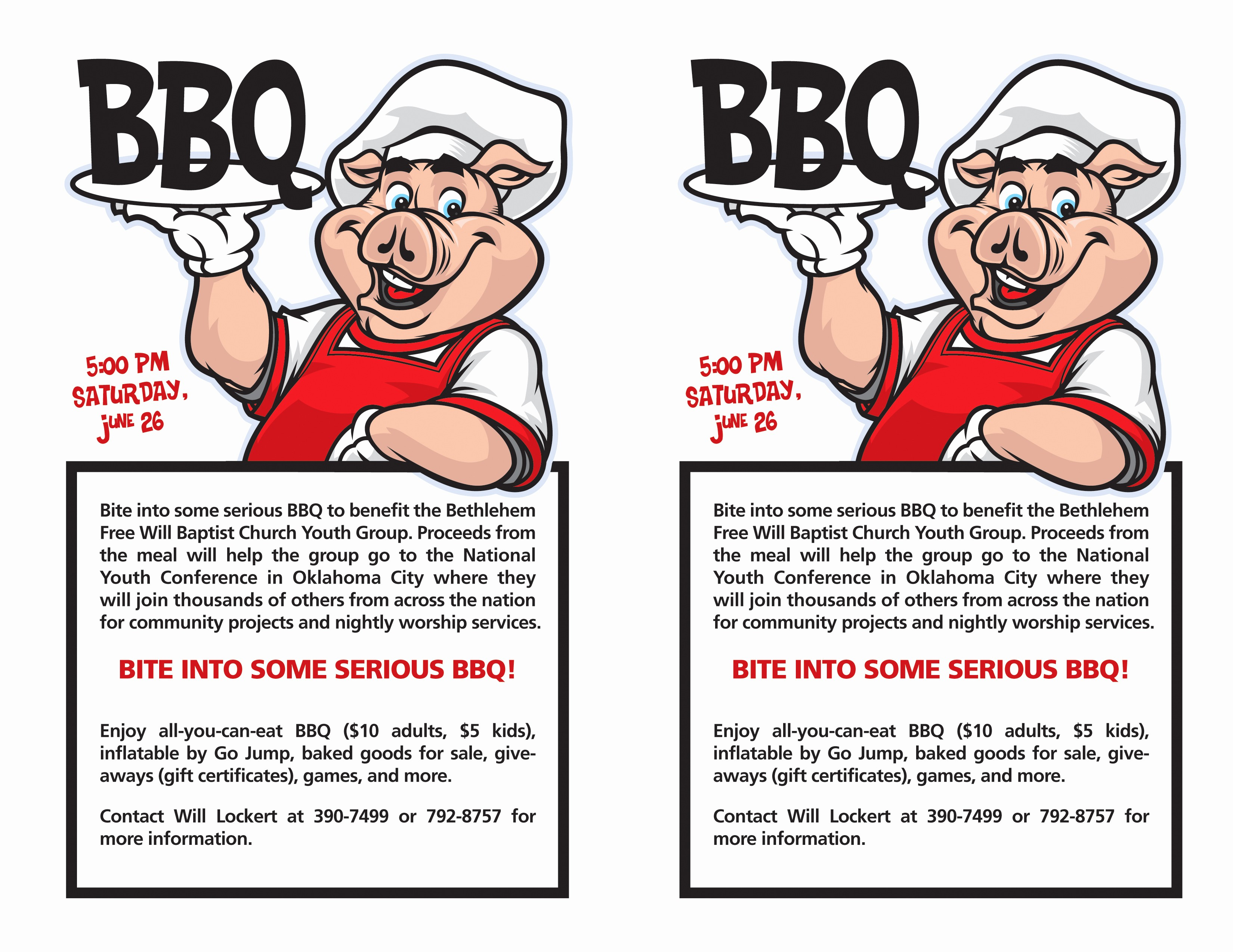 Bbq Fundraiser Flyer Templates Free Beautiful 9 Best Of Cookout Templates for Word Free