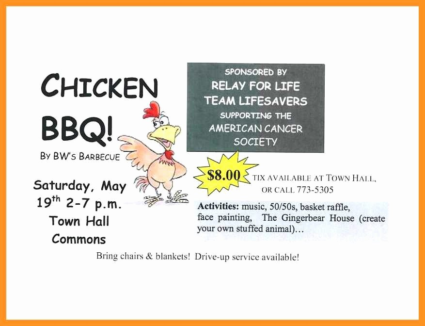 Bbq Fundraiser Flyer Templates Free Best Of 12 13 Bbq Plate Sale Ticket Template
