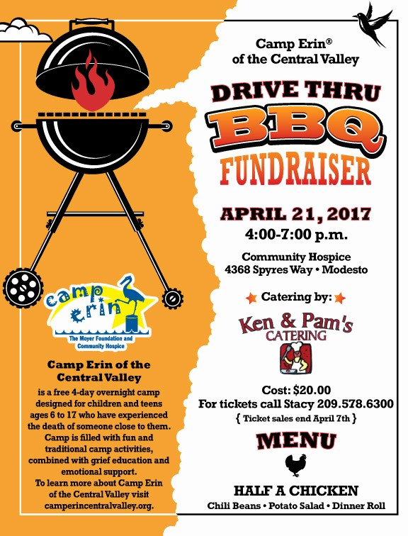Bbq Fundraiser Flyer Templates Free Best Of Camp Erin Of the Central Valley Bbq Fundraiser Munity