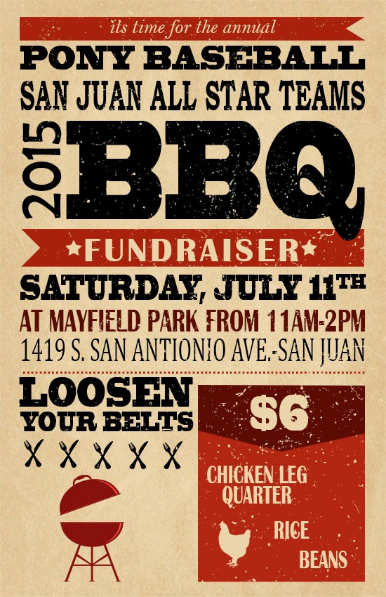 Bbq Fundraiser Flyer Templates Free Elegant Bbq Fundraiser – City Of San Juan