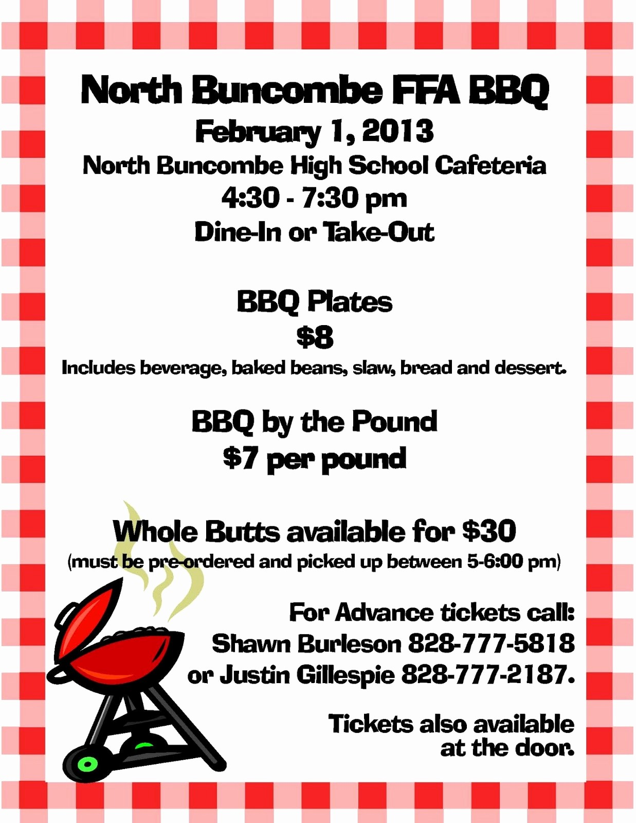 Bbq Fundraiser Flyer Templates Free Fresh ask Wnc north Bun Be Ffa Chapter Announces Scholarship