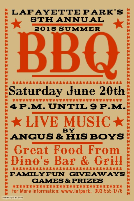 Bbq Fundraiser Flyer Templates Free Fresh Barbecue Poster Templates