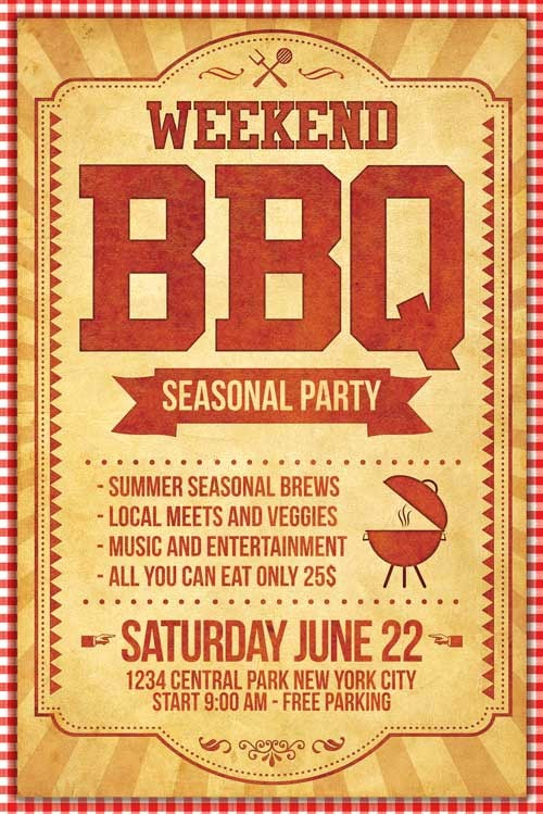 Bbq Fundraiser Flyer Templates Free Fresh Bbq Flyer Template Psd Xtremeflyers