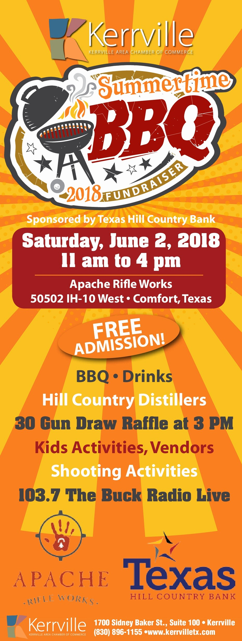 Bbq Fundraiser Flyer Templates Free Inspirational Summertime Bbq Fundraiser • Kerrville area Chamber Of Merce