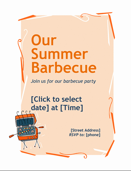 Bbq Fundraiser Flyer Templates Free Lovely Bbq Invitation Flyer